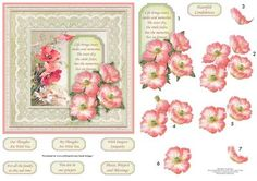 VINTAGE POPPIES DAISIES 6x6 Card Topper Decoupage on Craftsuprint designed by Janet Briggs - Sympathy card topper for a 6x6 card, with 3d step by step decoupage.Features vintage image of poppies and daisies, with poppy decoupage layers.The verse on the tag reads,Life brings tears, smiles and memories.The tears dry, the smiles fade, but the memories live on forever.Several sentiment tags including,Heartfelt condolencesOur thoughts are with youMy thoughts are with youWith Deepest SympathyFor…