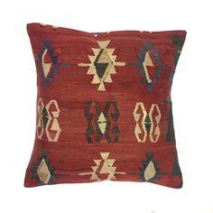 Handmade Kilim Cushion Cover, Kelim Pillow 60x60cm Turkish Moroccan 66160