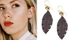 Rubber Leaf Earrings by Erika Lauren Design >> Great for summer!