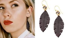 Rubber Leaf Earrings by Erika Lauren Design >> Great for summer!