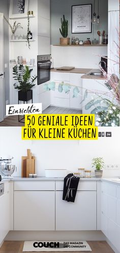 Making small kitchens bigger: how it Kleine Küchen größer machen: So geht's! Small apartment with a narrow kitchen? No problem! We show you 50 brilliant ideas for small kitchens like those from Oursweetliving (above) and sabinewittig (below). kitchen up - Narrow Kitchen, Small Kitchens, Küchen Design, Small Apartments, Home Furnishings, Home Furniture, Kitchen Decor, Kitchen Hacks, Family Room