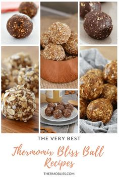 to our collection of the very best Thermomix bliss ball recipes. they're healthy, delicious and oh-so-simple! The perfect guilt-free treat! Healthy Slice, Healthy Protein Snacks, Healthy Snacks For Kids, Healthy Treats, Kid Snacks, Thermomix Recipes Healthy, Thermomix Desserts, Sweet Recipes, Snack Recipes