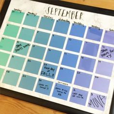 DIY Projects Made With Paint Chips - DIY Paint Chip Calendar - Best Creative Crafts, Easy DYI Projects You Can Make With Paint Chips - Cool Paint Chip Crafts and Project Tutorials - Crafty DIY Home Decor Ideas That Make Awesome DIY Gifts and Christmas Presents for Friends and Family http://diyjoy.com/diy-projects-paint-chips