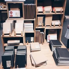 muji notebooks and stationery