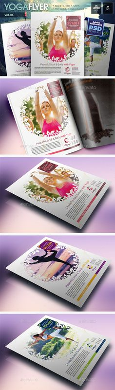 Yoga class event flyer poster template Fitness Events - yoga flyer