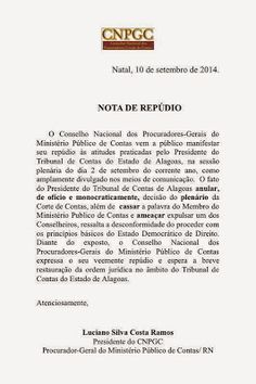RN POLITICA EM DIA: NOTA DE REPÚDIO DO CONSELHO NACIONAL DOS PROCURADO...