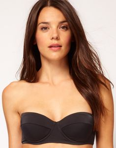 ASOS Mix and Match Longline Bandeau Bikini Top with detachable strap $23.76