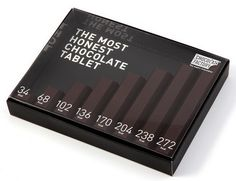 A chocolate bar that tells you exactly how many calories you are consuming