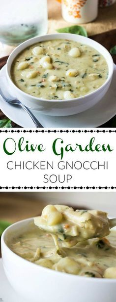 This Olive Garden Chicken Gnocchi Soup is a creamy and delicious dinner option f. - This Olive Garden Chicken Gnocchi Soup is a creamy and delicious dinner option f. This Olive Garden Chicken Gnocchi Soup is a creamy and delicious d. Crock Pot Recipes, Healthy Soup Recipes, Chicken Recipes, Cooking Recipes, Fall Recipes, Crockpot Meals, Chicken Soups, Recipes For Soup, Cooking Cake