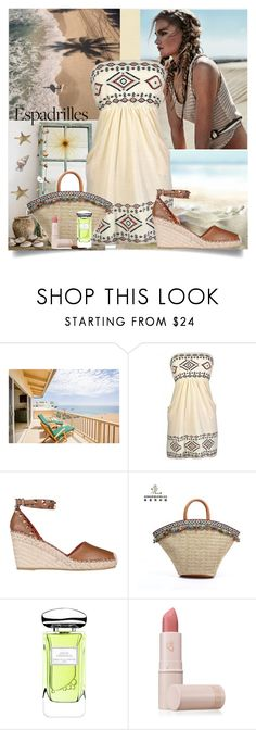 """Espadrilles !"" by fantasy-rose ❤ liked on Polyvore featuring Valentino, By Terry, Lipstick Queen and Frontgate"