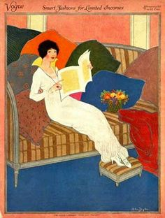 ✉ Biblio Beauties ✉ paintings of women reading letters & books - Helen Dryden (1887-1981)
