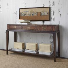 Sydney Leather Console Table Western Sofa Tables This Exotic Features Embossed With