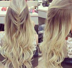 Cabelo penteado Lindo