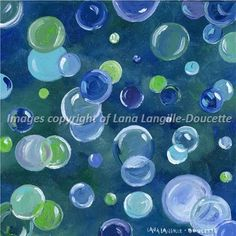 blue green bubbles Canvas prints starting at $30