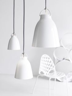 :: LIGHTING :: Photo Credit: Yellows Photography #lighting - adore these lovely gloss white pendants
