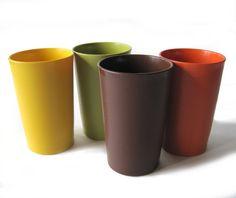 Vintage tupperware cups-- my mom still keeping hers!