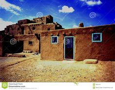 Image from http://thumbs.dreamstime.com/z/old-pueblo-building-taos-new-mexico-3834101.jpg.