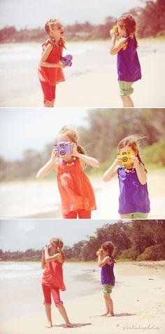little girls on the beach...love it!