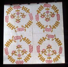 Coxcomb & Currants variation.  1850 Another contender for my possible coxcomb quilt!