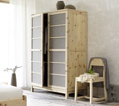 kleiderschrank aus massivem mahagoni b 170 cm horst. Black Bedroom Furniture Sets. Home Design Ideas