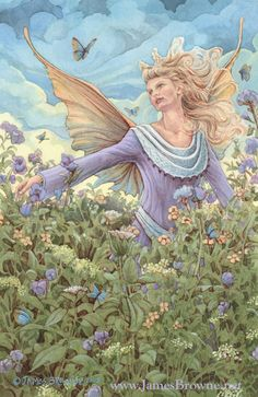 The Meadow Faery by ~yaamas on deviantART