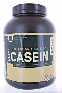 Health And Fitness: Optimum Nutrition Gold Standard Natural 100% Casein 4Lbs Chocolate Creme 48 S BUY IT NOW ONLY: $49.99