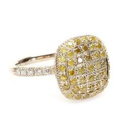 mytheresa.com - Roberto Marroni - 18KT YELLOW GOLD RING WITH YELLOW ICE AND WHITE DIAMONDS - Luxury Fashion for Women / Designer clothing, shoes, bags