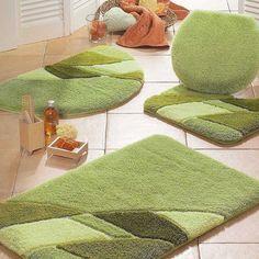 Microfiber Chenille Bath Rugs Bath Rugs Vanities Pinterest - Dark green bath mat for bathroom decorating ideas