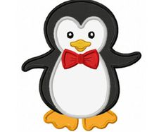 Descarga instantánea chica pingüino apliques por JoyousEmbroidery