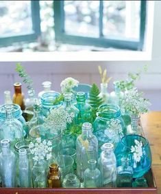 Aquamarine glass