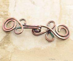 Broche de cobre Rebeca hecha a mano nudo celta o por IngoDesign