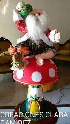 Papa no el sentado Baby Shower Balloons, Christmas Elf, Elves, Gingerbread, Santa, Diy, Reindeer, Christmas Ornaments, Feltro