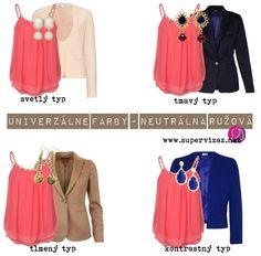 Univerzálne farby - Fialová a neutrálna ružová