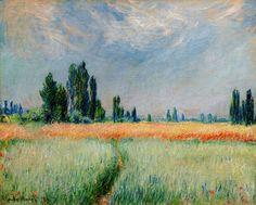 Claude Monet Buğday Tarlası / The Wheat Field 1881. Tuval üzerine yağlıboya. 65 x 81 cm. Cleveland Museum of Art, Ohio.