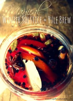 How to Make Winter Solstice + Yule Brew with the magic of the moon.