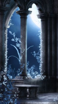 Anime Backgrounds Wallpapers, Anime Scenery Wallpaper, Pretty Wallpapers, Animes Wallpapers, Fantasy Art Landscapes, Fantasy Landscape, Fantasy Artwork, Arte 8 Bits, Gothic Wallpaper
