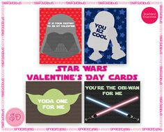 Printable Star Wars Valentine's Day Cards by StefaliciousDesigns, $5.00