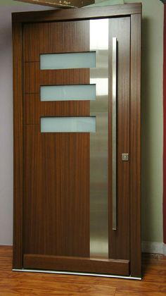 Modern Interior Doors Ideas Choosing Modern Interior Doors for Your Home Modern Interior Doors Ideas. Interior doors are as important as exterior doors. Within a home or a building, interior doors … Midcentury Modern Front Door, Modern Wood Doors, Modern Exterior Doors, Contemporary Front Doors, Wood Exterior Door, Wooden Front Doors, Glass Front Door, Glass Door, Glass House