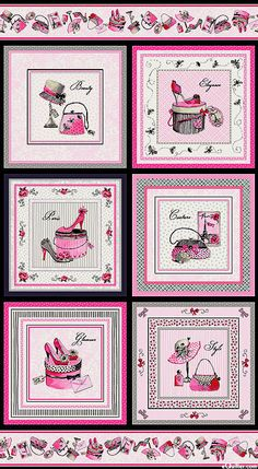 """Glamour, Inc - Chic Boutique - Candy Pink - 24"""" x 44"""" PANEL"""