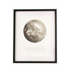 House Doctor Afbeelding in Lijst 43 x 53 cm - Moon - afbeelding 1