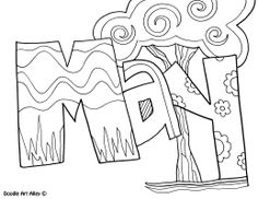 May Coloring Pages for Kids