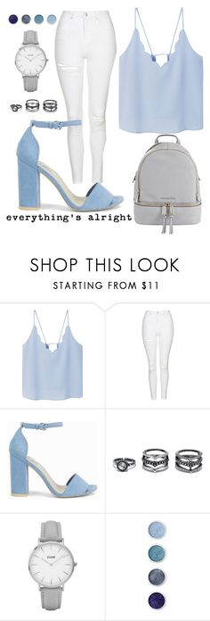 """everything's alright"" by jayds73 ❤ liked on Polyvore featuring MANGO, Topshop, Nly Shoes, Lulu*s, Terre Mère and MICHAEL Michael Kors"