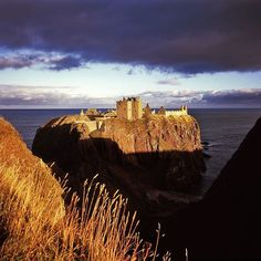 Dunottar Castle, a medieval fortress off the coast of Scotland near Stonehaven, Aberdeenshire.