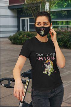 High Astronaut T-shirt & Face Mask Summer Clothes, Summer Outfits, Astronaut, Classic T Shirts, Hoodies, Store, Face, Mens Tops, Women