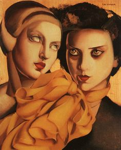 The Young Ladies, 1927 -  by Tamara de Lempicka (1898-1980): Polish born American Art Deco painter  http://myaloysius.tumblr.com/page/440