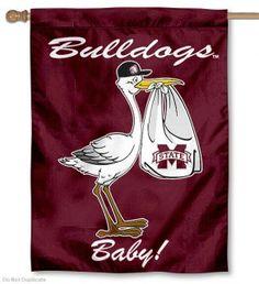 Mississippi State University New Baby Flag