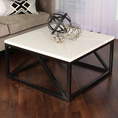 Kaya deux tons bois Square Coffee Table