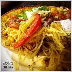 Spaghetti Squash Burrito Bowls – Coastal Girl Food n' Fitness Healthy Options, Healthy Recipes, Cacciatore Recipes, Burrito Bowls, Clean Eating Dinner, Food N, Spaghetti Squash, Italian Recipes, Meals