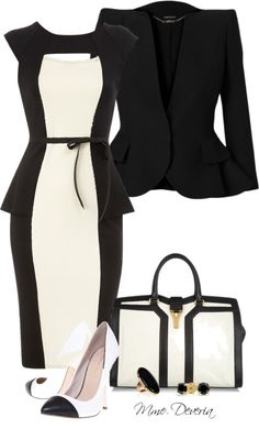 """Black and white"" by madamedeveria on Polyvore"