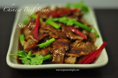 Easy Chinese Beef Steak Stir Fry Recipe